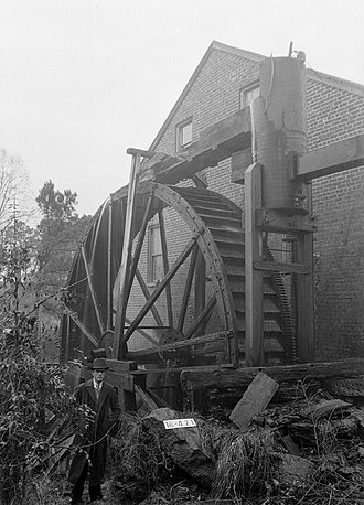 National Register of Historic Places listings in Calhoun County, Alabama - Image: Mill with Water Wheel, Aderholdt's Mill Road, Anniston vicinity (Calhoun County, Alabama)