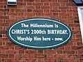 Millennium sign on Living Waters premises, 81 Main Road, Darnall - geograph.org.uk - 1258133.jpg