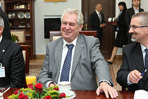 Miloš Zeman - Zeman in the Senate of Poland, 24 May 2013