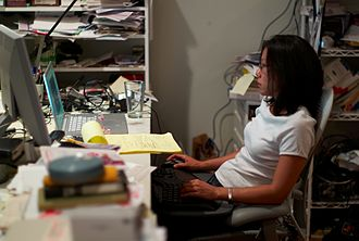 Mizuko Ito - Ito at her home desk