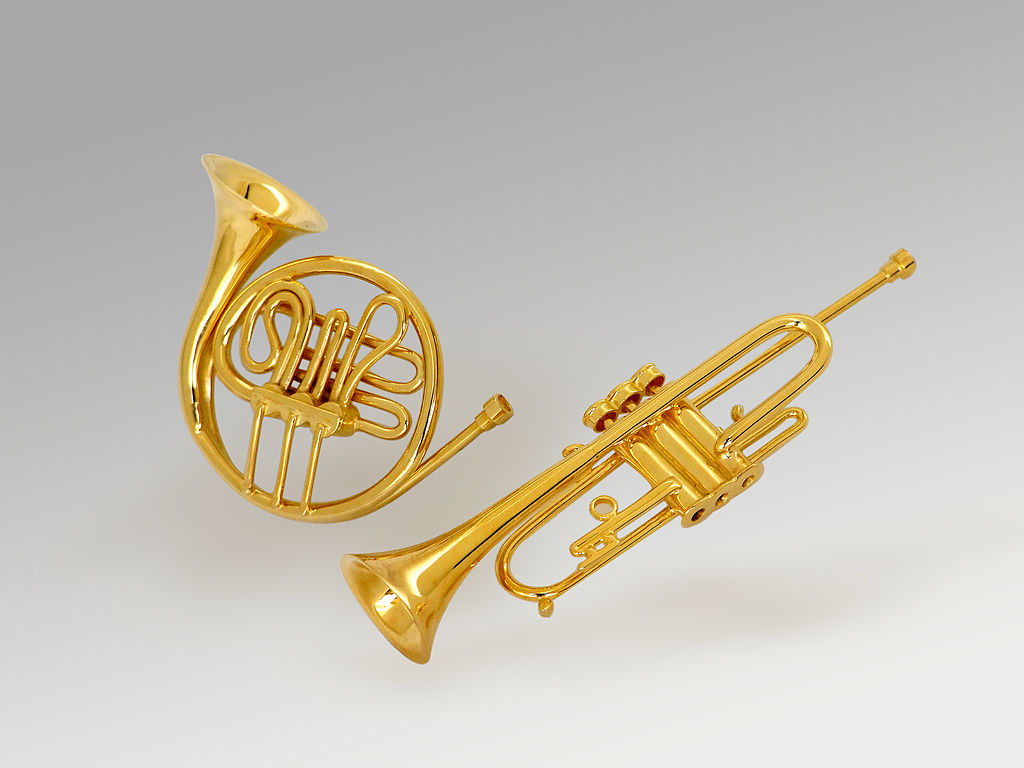 fileminiature gold horn and trumpetjpg wikimedia commons