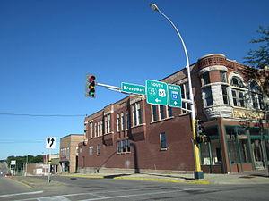Minnesota State Highway 13 - Southern terminus of MN 13 in Albert Lea