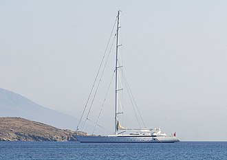 Ron Holland - M5 at Rineia, Cyclades in 2008