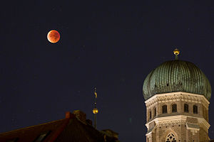 Supermoon - The supermoon of September 28, 2015 during lunar eclipse from Munich, Germany