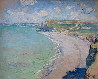 National Museum, Poznań - Beach in Pourville, Claude Monet, 1882.