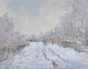 Snow at Argenteuil - Image: Monet Snow at Argenteuil 1875
