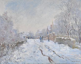 1875 in art - Monet – Snow at Argenteuil (1875) (National Gallery, London)