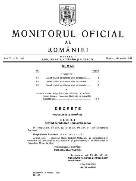 File:Monitorul Oficial al României. Partea I 1999-03-10, nr. 101.pdf