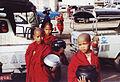 Monks parking Burma 2002.jpg