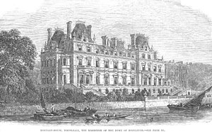 Montagu House, Whitehall - The Victorian Montagu House. A picture from the Illustrated London News (1864).