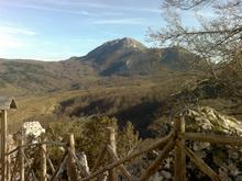 Il monte di Viggiano dal santuario Madonna del monte Saraceno