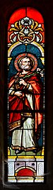 Montmoreau 16 Vitrail absidiole sud St Joseph 1872.jpg