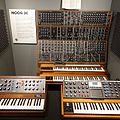 Moog synthesizers - front view, Robert Moog booth - National Inventors Hall of Fame and Museum, USPTO building in Alexandria, Virginia, 2014-09-24.jpg