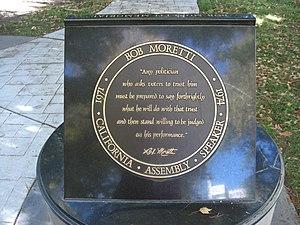 Bob Moretti - Bob Moretti memorial, Sacramento, Capitol Park