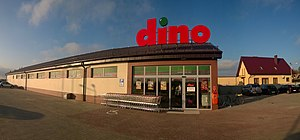 Dino (convenience store) - One of Dino Polska's nationwide network of convenience stores, here in Moryń