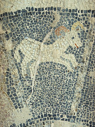 Aries (astrology) - Image: Mosaic in Maltezana at Analipsi, Astypalaia, 5th c AD, Aries Astm 25