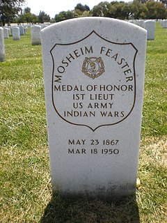 Mosheim Feaster United States Army Medal of Honor recipient