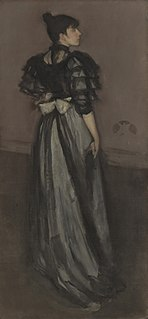 <i>Mother of Pearl and Silver: The Andalusian</i> painting by James Abbott McNeill Whistler