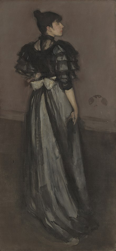 Mother of Pearl and Silver: The Andalusian (1888-1900), National Gallery of Art, Washington, D.C. (Model: Ethel Whibley) Mother of Pearl and Silver The Andalusian.jpg