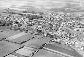 An aerial view of Mougon