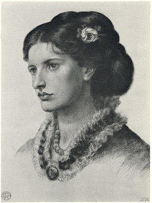 Lucy Madox Brown - 1874 portrait by Dante Gabriel Rossetti