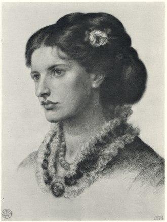 Lucy Madox Brown - 1874 portrait by Dante Gabriel Rossetti