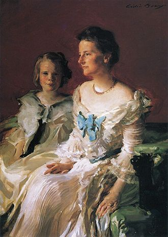 Ethel Roosevelt Derby - Mrs Theodore Roosevelt and daughter Ethel, 1902, by Cecilia Beaux