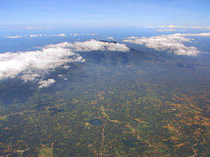 Mount Banahaw - Aerial view of Mt Banahaw from the south-west