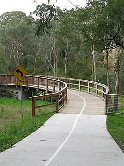 Mullum Mullum Creek Trail through Yarran Dheran.