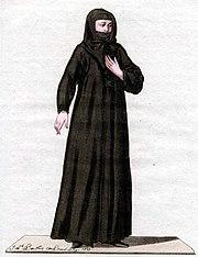 Painting of a Nestorian nun, 1779.