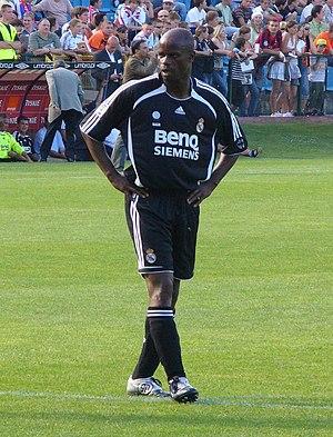 Mutiu Adepoju - Adepoju playing with Real Madrid veterans