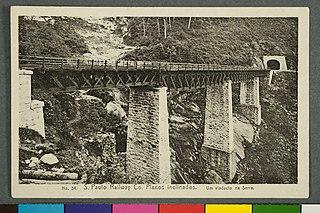 Nº 34. S. Paulo Railway Co. Planos Inclinados. um Viaducto na Serra
