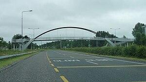 N19 road (Ireland) - Pedestrian bridge over the N19 Dual Carriageway.