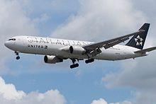 N653US Boeing 767 United Star Alliance (7496775714).jpg