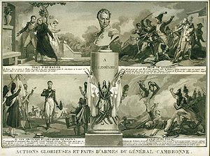 Pierre Cambronne - Popular image of the 1820s illustrating the deeds of General Cambronne
