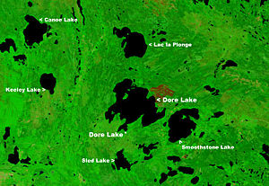 Dore Lake - NASA image of Dore Lake on Doré Lake