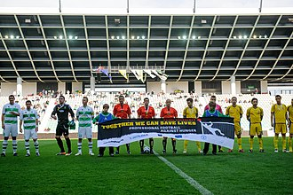 NK Olimpija Ljubljana (2005) - Olimpija participate in Professional Football Against Hunger charity campaign