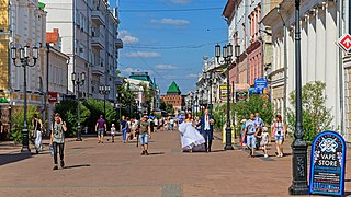 Main street of Nizhny Novgorod