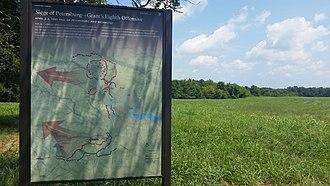 Third Battle of Petersburg - National Park Service marker for Fort Gregg