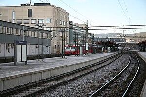Drammen Station - A local NSB BM69 train at Drammen Station