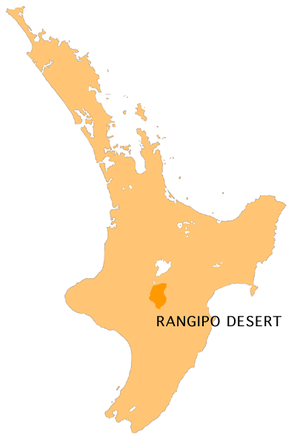 Rangipo Desert - Location of the Rangipo Desert
