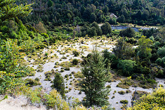 Ithilien - Twelve Mile Delta, Near Queenstown, New Zealand, the filming location of Faramir's rangers' battle with the Southrons in The Two Towers (film)