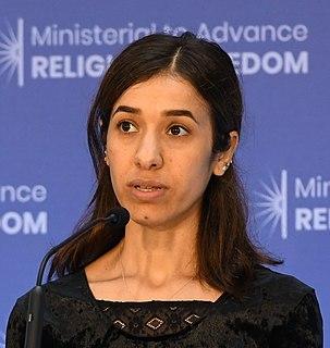 Nadia Murad Yazidi human rights activist from Iraq and winner of the 2018 Nobel Peace Prize