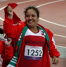 Najat El Garaa F40 Discus thrower at the 2012 Summer Paralympics.jpg
