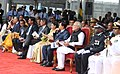Narendra Modi at the Joint Commissioning of Offshore Patrol Vessel (OPV) Barracuda, at the Port Louis Harbour, in Mauritius on March 12, 2015. The Prime Minister of Mauritius, Sir Anerood Jugnauth is also seen.jpg