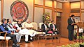 Narendra Modi at the signing ceremony of historic peace accord between Government of India & NSCN, in New Delhi on August 03, 2015. The Union Home Minister, Shri Rajnath Singh and other dignitaries are also seen (1).jpg