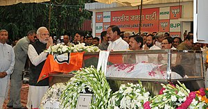 Gopinath Munde - Prime Minister Narendra Modi pays homage to his colleague Munde.