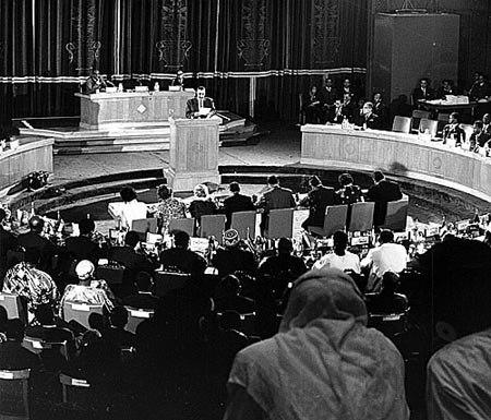 Nasser at African Summit 1964 Cairo
