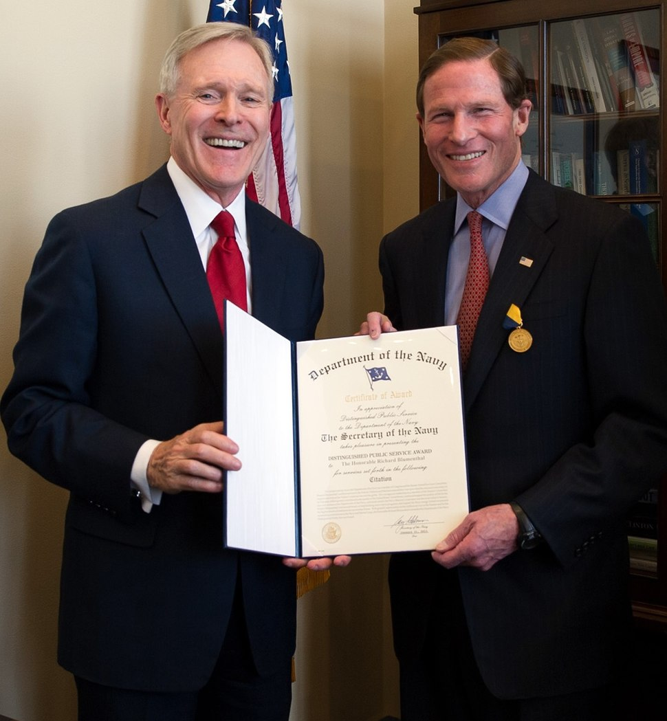 Navy Distinguished Public Service Medal Awardee Richard Blumenthal