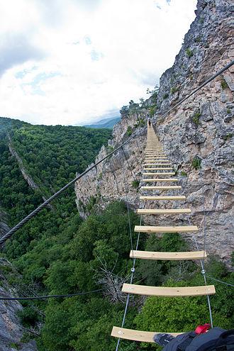 Nelson Rocks - Image: Nelson Rocks Via Ferrata